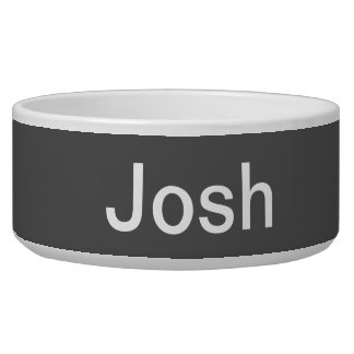 Charcoal Gray Solid Color Customize It Bowl