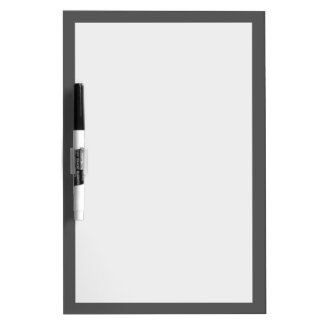 Charcoal Gray Solid Color Customize It Dry Erase Board