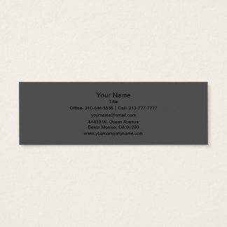 Charcoal Gray Solid Color Customize It Mini Business Card