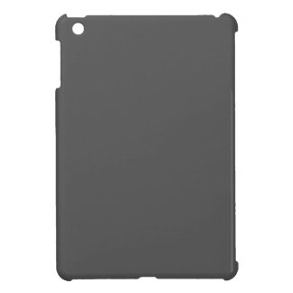 Charcoal Gray Solid Color Case For The iPad Mini