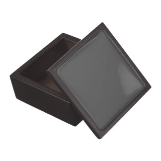 Charcoal Gray Solid Color Jewelry Box