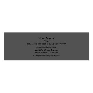 Charcoal Gray Solid Color Mini Business Card