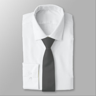 Charcoal Gray Solid Color Tie
