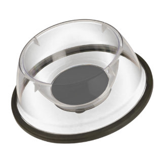 Charcoal Gray Solid Color Pet Bowl