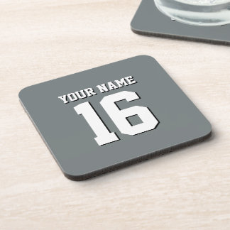Charcoal Gray Sports Jersey Team Jersey Coaster