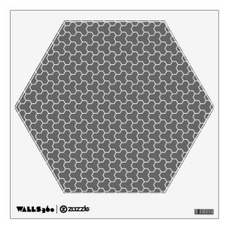 Charcoal Gray Tri-Hex Wall Decal
