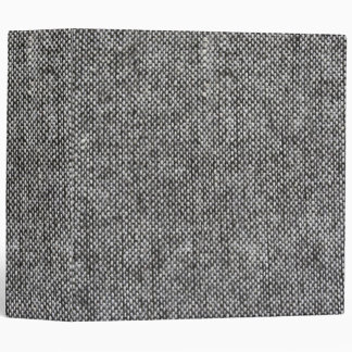 Charcoal Gray Tweed Fabric Texture Pattern 3 Ring Binder