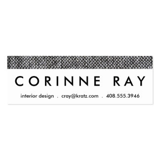 Charcoal Gray Tweed Fabric Texture Pattern Double-Sided Mini Business Cards (Pack Of 20)