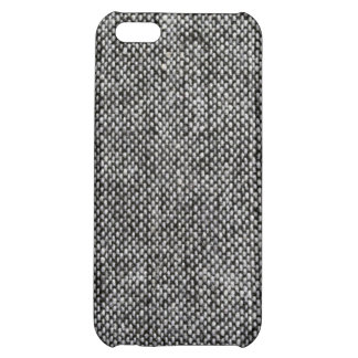 Charcoal Gray Tweed Fabric Texture Pattern iPhone 5C Covers