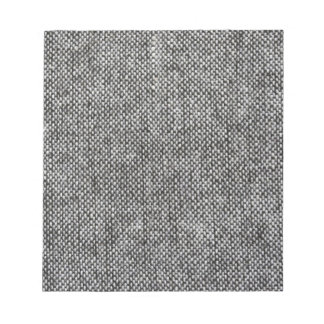 Charcoal Gray Tweed Fabric Texture Pattern Notepad