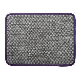 Charcoal Gray Tweed Fabric Texture Pattern Sleeve For MacBook Pro
