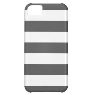 Charcoal Gray Wide Stripe iPhone 5C Cover