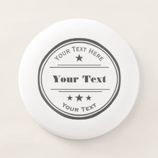 Charcoal Gray Your Text Here Logo Template Stars Wham-O Frisbee