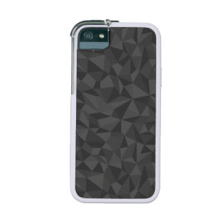 Charcoal Grey Abstract Mosaic Pattern Case For iPhone 5
