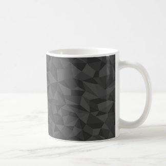 Charcoal Grey Abstract Mosaic Pattern Coffee Mug