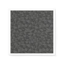 Charcoal Grey Abstract Mosaic Pattern Napkin
