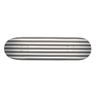 Charcoal Grey and White Cabana Stripes Skateboards