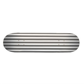 Charcoal Grey and White Cabana Stripes Skate Deck