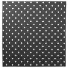 Charcoal grey and white polka dot pattern napkins