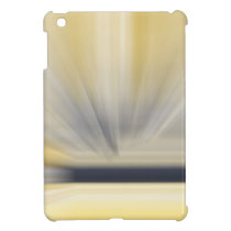 Charcoal Grey and Yellow Abstract Case For The iPad Mini
