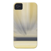 Charcoal Grey and Yellow Abstract Case-Mate iPhone 4 Case