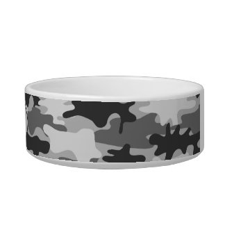 Charcoal Grey Camo Camoflauge Custom Pet Bowl