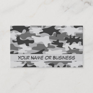 Camouflage business cards templates zazzle charcoal grey camo camouflage name personalized business card colourmoves