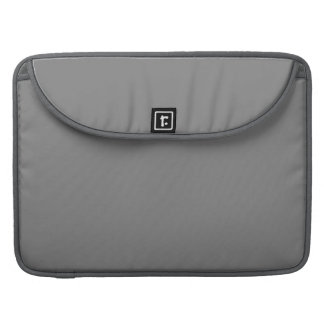 Charcoal Grey Customizable Designs Color Only MacBook Pro Sleeves