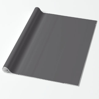 Charcoal Grey Gray Solid Trend Color Background Wrapping Paper