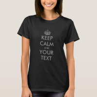 Charcoal Grey keep calm and your text tee shirt