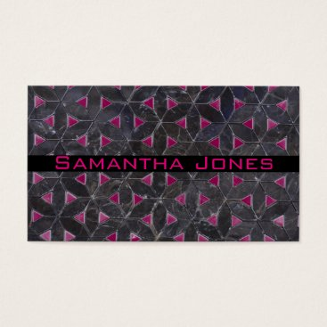 Professional Business Charcoal Grey Mosaic Business Card