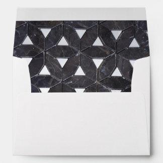 Charcoal Grey mosaic Envelope