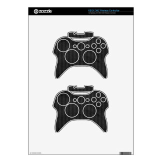 Charcoal Grey Pinstripes with Grunge Finish Xbox 360 Controller Decal