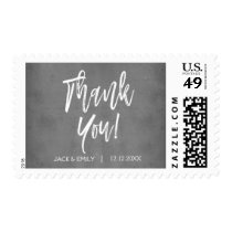 Charcoal Grey Thank You Postage Stamp