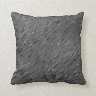Charcoal Grey Wind Texture Lumbar n Throw Pillows