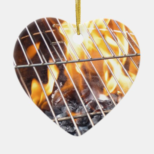 charcoal grill double sided heart ceramic christmas ornament zazzle. Black Bedroom Furniture Sets. Home Design Ideas