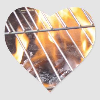 Charcoal Grill Heart Sticker