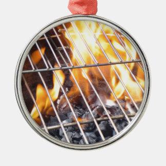 Charcoal Grill Metal Ornament