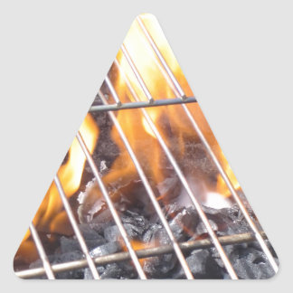 Charcoal Grill Triangle Sticker