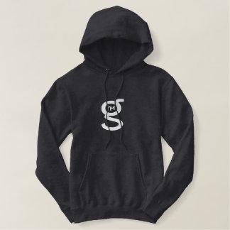 Charcoal Hoodie w Large White Logo