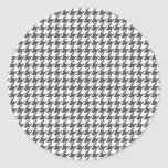 Charcoal Houndstooth Stickers