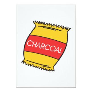 Charcoal 5x7 Paper Invitation Card