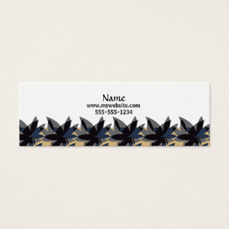 Charcoal Layered Leaves Business Cards