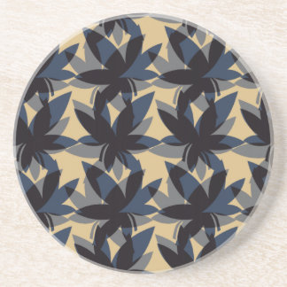 Charcoal Layered Leaves Coaster