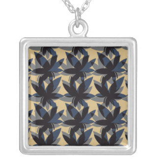 Charcoal Layered Leaves Necklace