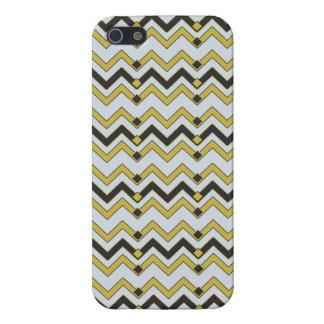 Charcoal & Lemongrass Chevron iPhone SE/5/5s Case