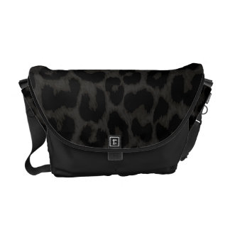 CHARCOAL LEOPARD bag Messenger Bags
