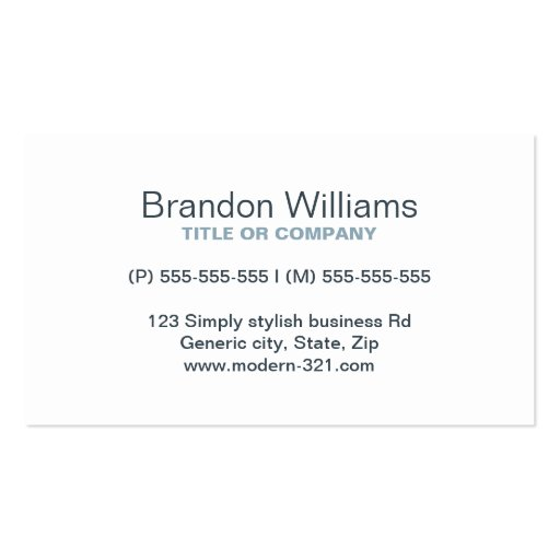 Charcoal modern generic simple elegant personal business cards