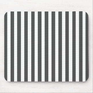 Charcoal Modern Stripe Mouse Pad