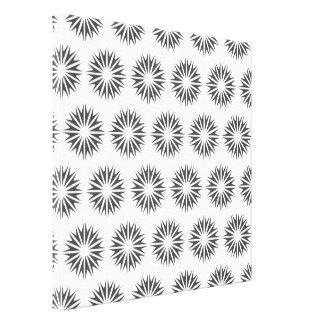 Charcoal Modern Sunbursts Stretched Canvas Prints